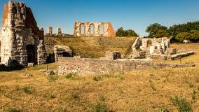 Руины римского театра в Gubbio Стоковая Фотография