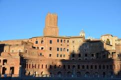 Руины рынка Traian s в Риме Италия Стоковое Изображение