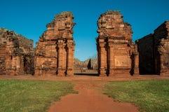 Руины Сан Ignacio мини Jesuites, Misiones, Аргентина Стоковые Изображения RF