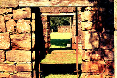 Руины Сан ignacio, Misiones, Аргентина Стоковое Изображение RF