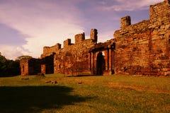 Руины Сан ignacio, Misiones, Аргентина Стоковые Фото