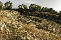Руины Сиракуза, Италии стоковые изображения