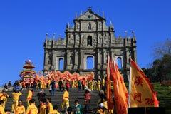 Руины собора St Paul, Макао Стоковая Фотография
