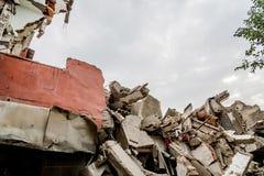 Руины сокрушенного здания стоковая фотография rf