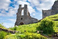 Руины средневекового готического замка Potstejn от 1259, восточная Богемия, чехия стоковое фото rf