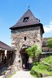 Руины средневекового готического замка Potstejn от 1259, восточная Богемия, чехия стоковое изображение rf