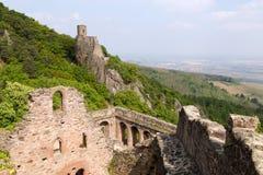 Руины средневекового замка Свят-Ulrich, Франции Стоковое фото RF