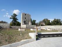 Руины средневековой крепости в Drobeta Turnu Severin Стоковое фото RF