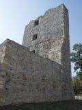 Руины средневековой крепости в Drobeta Turnu Severin Стоковые Изображения RF