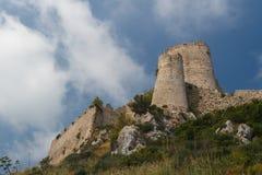 Руины средневекового замка Kantara, северного Кипра Стоковое Фото