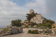 Руины средневекового замка Kantara, северного Кипра Стоковые Изображения