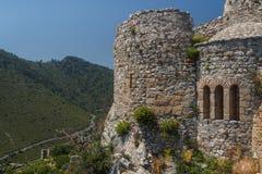 Руины средневекового замка St Hilarion стоковые фото