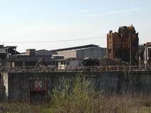 Руины стальных изделий Ferrero в Settimo Torinese стоковые фотографии rf