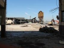 Руины стальных изделий Ferrero в Settimo Torinese стоковые изображения