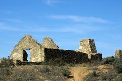 Руины станции Kanyaka, ряды щепок, южная Австралия стоковая фотография rf