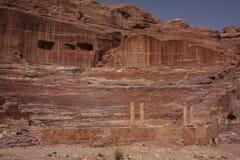 Руины старого арабского Petra города, Джордана Стоковые Изображения RF