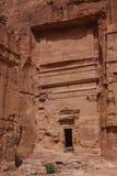 Руины старого арабского Petra города, Джордана Стоковые Фото