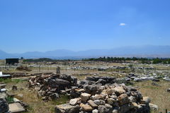 Руины старого города Hierapolis Стоковое Фото