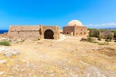 Руины старого городка в Rethymno, Крите, Греции. Стоковое Изображение