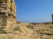 Руины старого городка Стоковое Фото
