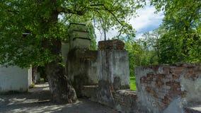Руины старого дома в дне парка Стоковое фото RF