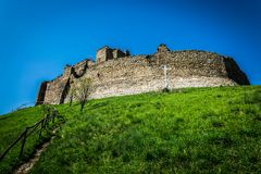 Руины старого замка Стоковое Изображение