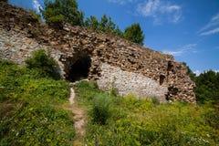 Руины старого замка Стоковые Изображения
