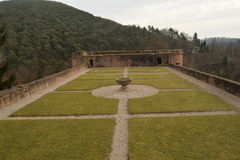 Руины старого замка Hardenburg Стоковые Изображения RF