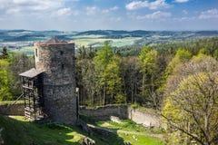 Руины старого замка Helfenburk Стоковые Изображения RF