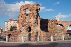 Руины старого замка Rocca Galliera Болонья, эмилия-Романья, Италия Стоковые Изображения RF