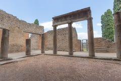 Руины старого Помпеи Италии Стоковая Фотография RF