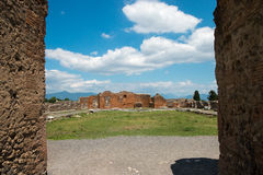 Руины старого Помпеи Италии Стоковые Изображения RF