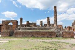 Руины старого Помпеи Италии Стоковое фото RF
