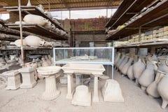 Руины старого Помпеи Италии Стоковые Фото
