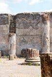 Руины старого Помпеи Италии Стоковые Изображения