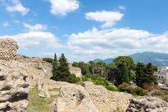 Руины старого Помпеи Италии Стоковые Фотографии RF