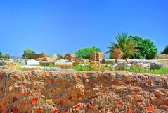 Руины старого римского города Caesarea Израиль Стоковые Изображения RF