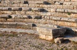 Руины старого римского театра в Ливане Стоковое Фото