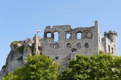 Руины старого средневекового замка Стоковое Изображение RF