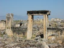 Руины старого Hierapolis, Турции Стоковое Изображение