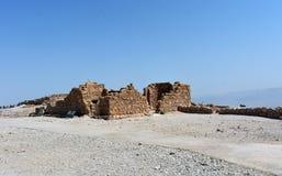 Руины старого Masada, южного района, Израиля стоковая фотография rf
