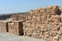 Руины старого Masada, южного района, Израиля стоковое изображение