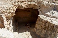 Руины старого Masada, южного района, Израиля стоковые фотографии rf