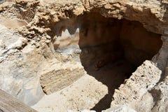 Руины старого Masada, южного района, Израиля стоковое изображение rf