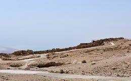Руины старого Masada, южного района, Израиля стоковое фото