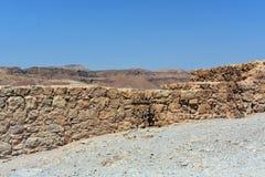 Руины старого Masada, южного района, Израиля стоковые изображения rf