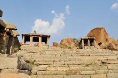 Руины старой индусской цивилизации, Hampi, Индии стоковые фотографии rf