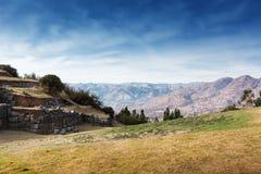 руины старой крепости Inca стоковые изображения