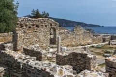 Руины старой церков в археологических раскопках Aliki, острове Thassos, Греции Стоковое Изображение RF