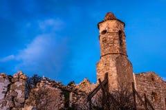 Руины старой церков стоковые изображения